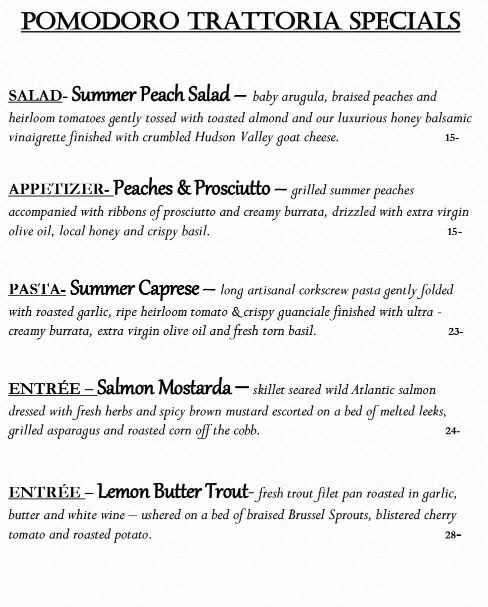 omodoro Riverside Weekly Specials from 08/09 - 08/15